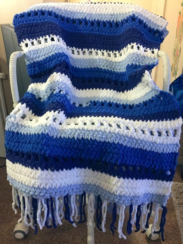 bernat blanket stripes crochet pattern