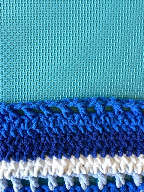 WIP : Blue Afghan Blanket