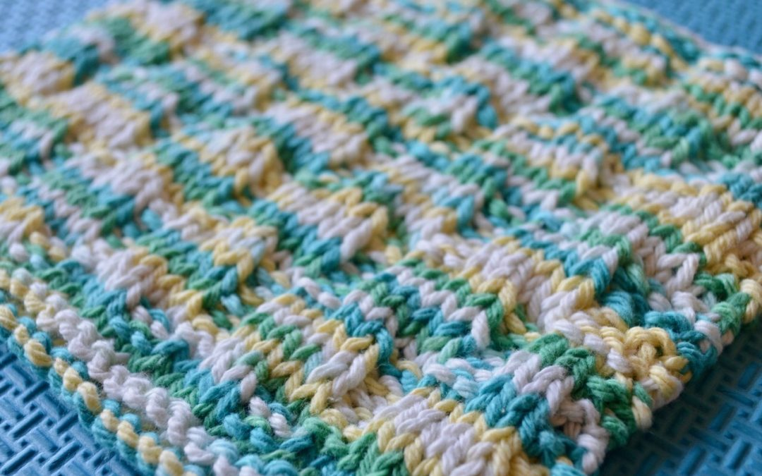 Mock Cable Dishcloth Free Pattern