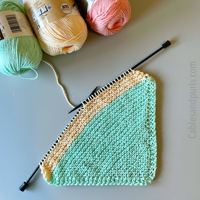 Dishcloths Downtime and Knitting Slumps